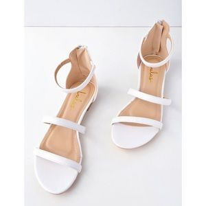 Adorable White Lulus Sandals